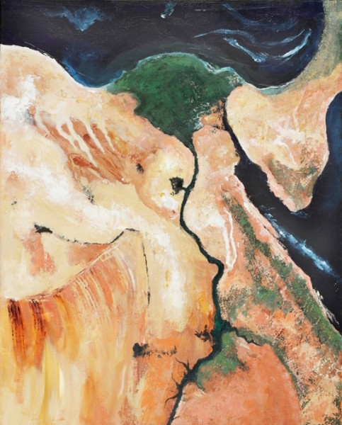 annhartmarquis Nileriver deltaEgypt 483x600 Abstract River Delta Paintings