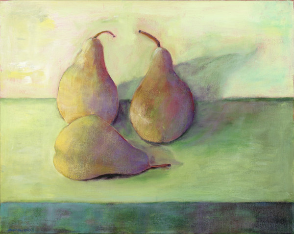 Ann Hart Marquis French Pears pears 600x477 The Two Year Pear Painting Adventure