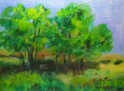 Contemplative Day oil 9x12 A Sense of Place