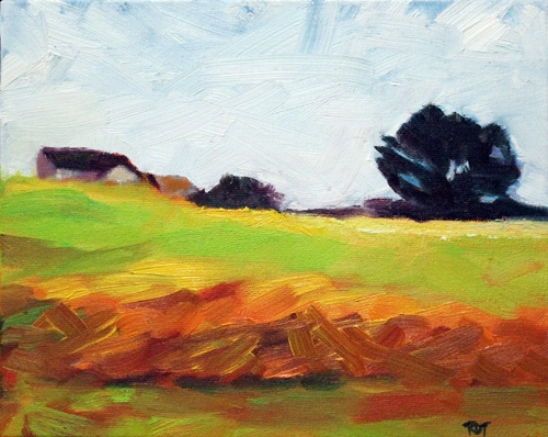 Iowa Memories oil 8x10 A Sense of Place