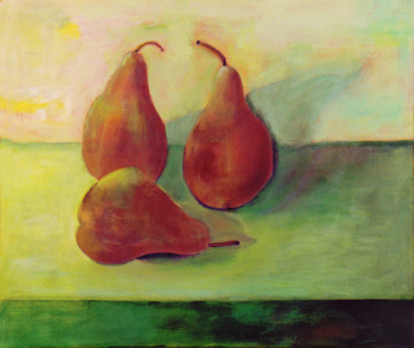 PearsSecond Try 600x505 The Two Year Pear Painting Adventure