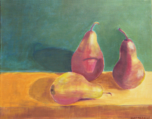 Prars First Try 600x472 The Two Year Pear Painting Adventure