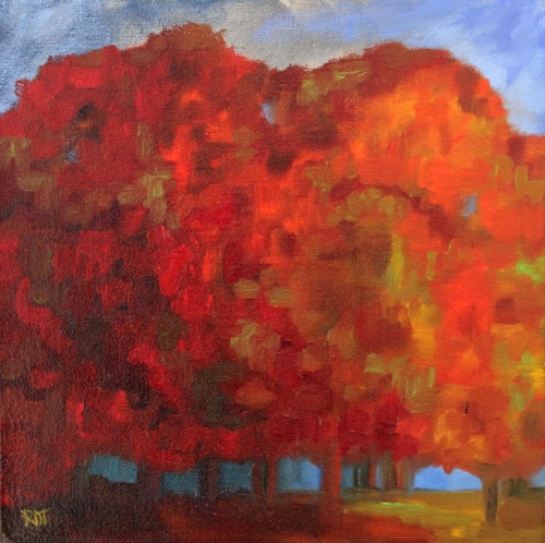 Vivid Autumn oil 12x12 A Sense of Place