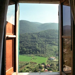 La torretta View from bedroom Painting Italy Retreat
