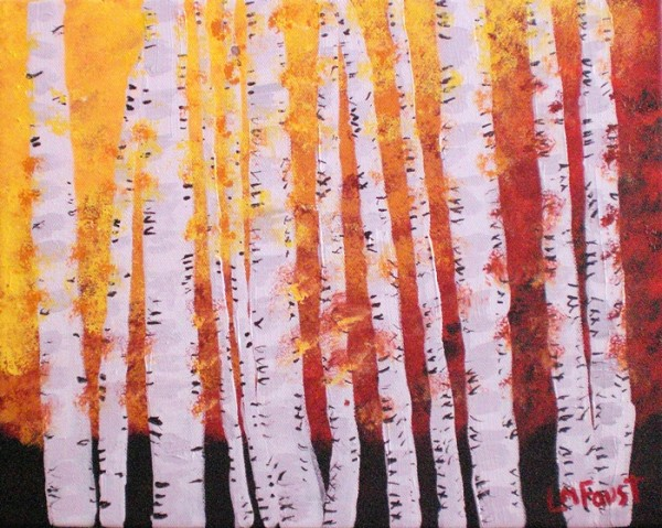 Autumn Birch Trees Linda Faust copy 600x479 Painting for the Complete Beginner, Summer