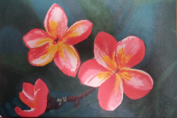 Hawaiian Tlowers Deborah Maestas copy 600x401 Painting for the Complete Beginner, Summer