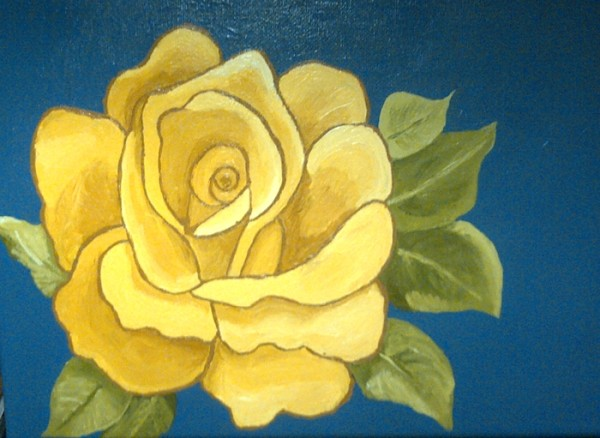 Yellow Rose Betty Gatton Spring 2014 600x438 Painting for the Complete Beginner, Summer