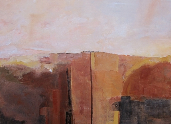 ann hart marquis New Mexico late fall II 600x435 Abstraction of the Landscape