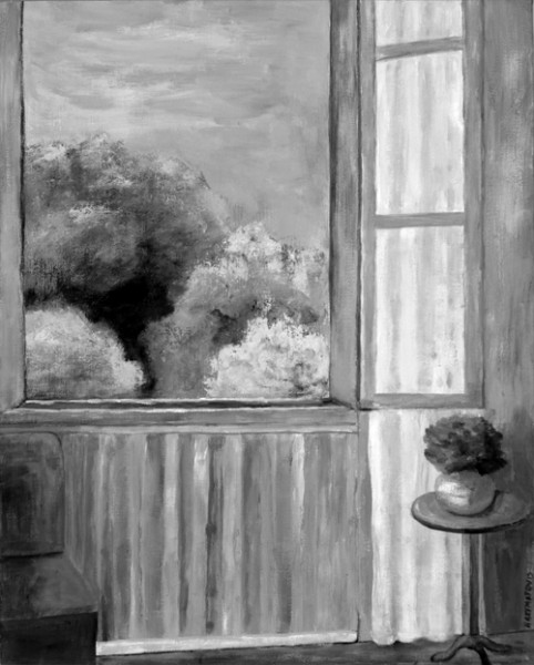 Ann Hart Marquis-Through the Window-value in painting