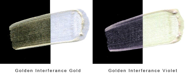 Golden Interference paint