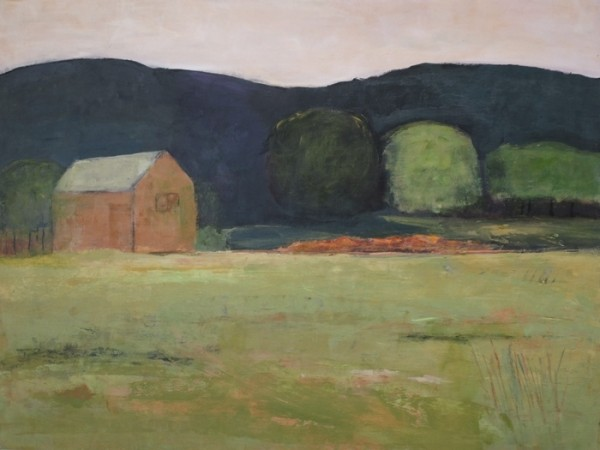 Ann Hart Marquis-Evening at Chalk Hill- finishing a painting