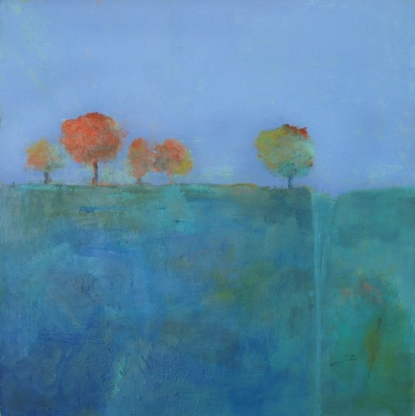 Ann Hart Marquis-painting over a painting
