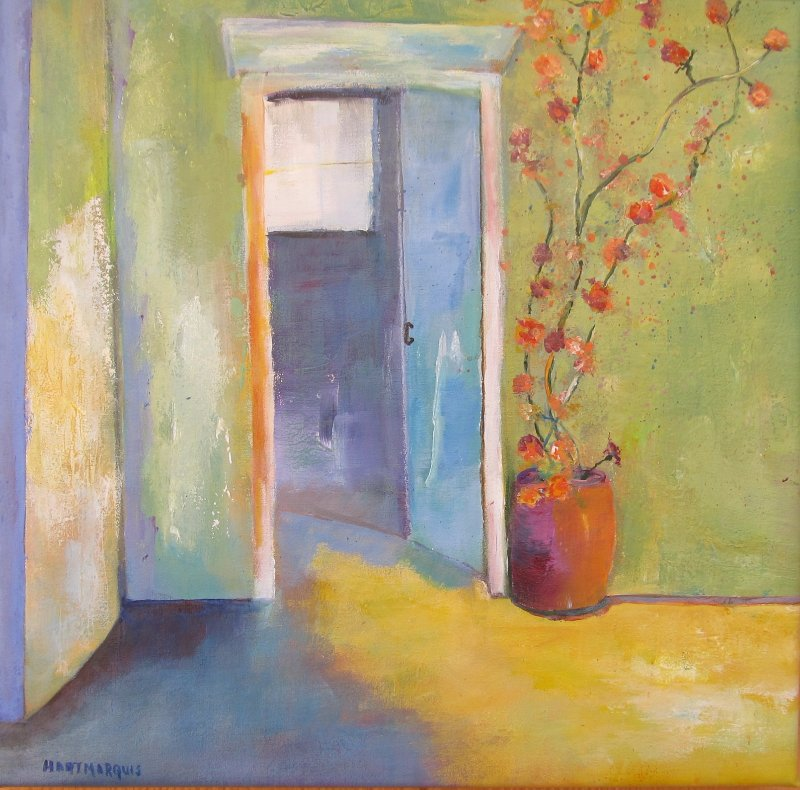Ann Hart Marquis-Old Blue Door