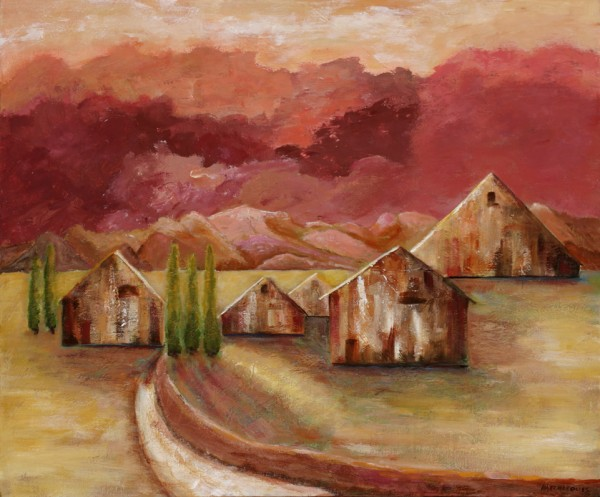 Road Home, Summer, acrylic on canvas, 2009, ©Ann Hart Marquis