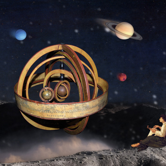 KarinHillmer-The armillary rises quietly from the depths of the universe