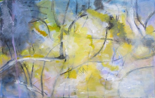 Under Irish Trees. mixed media on paper, 20x24 inches. ©Ann Hart Marquis