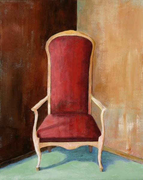 Ann Hart Marquis-Red Chair, acrylic