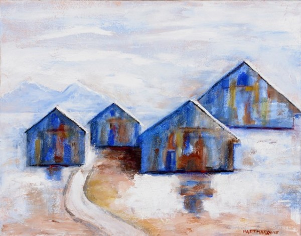 Ann Hart Marquis-Road Home,  January, New Mexico