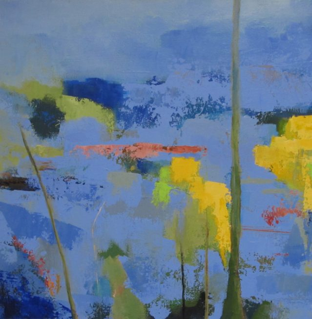 Painting of abstract landscape painting.